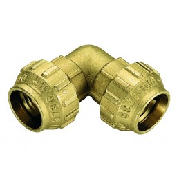RACCORDO CURVO DOPPIO A COMPRES TUBO PE/PEHD/PEX Ø 32 - 32 - 3463CR TIEMME