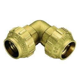 RACCORDO CURVO DOPPIO A COMPRES TUBO PE/PEHD/PEX Ø 25 - 25 - 3463CR TIEMME