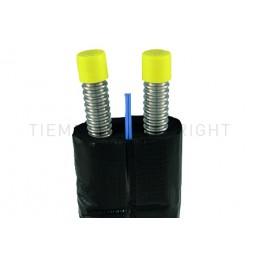 COPPIA TUBI IN ACCIAIO INOX CORRUGATO COIBENTATI NERO DN16 L 15MT - 0700X TIEMME