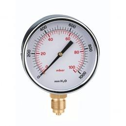 MANOMETRO GAS 3/8 RADIAL 0-100D80